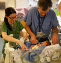Neonatologist and NICU nurse in Portland, Oregon