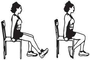 Seated knee flexion exercise