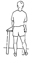 Standing hip abduction exercise