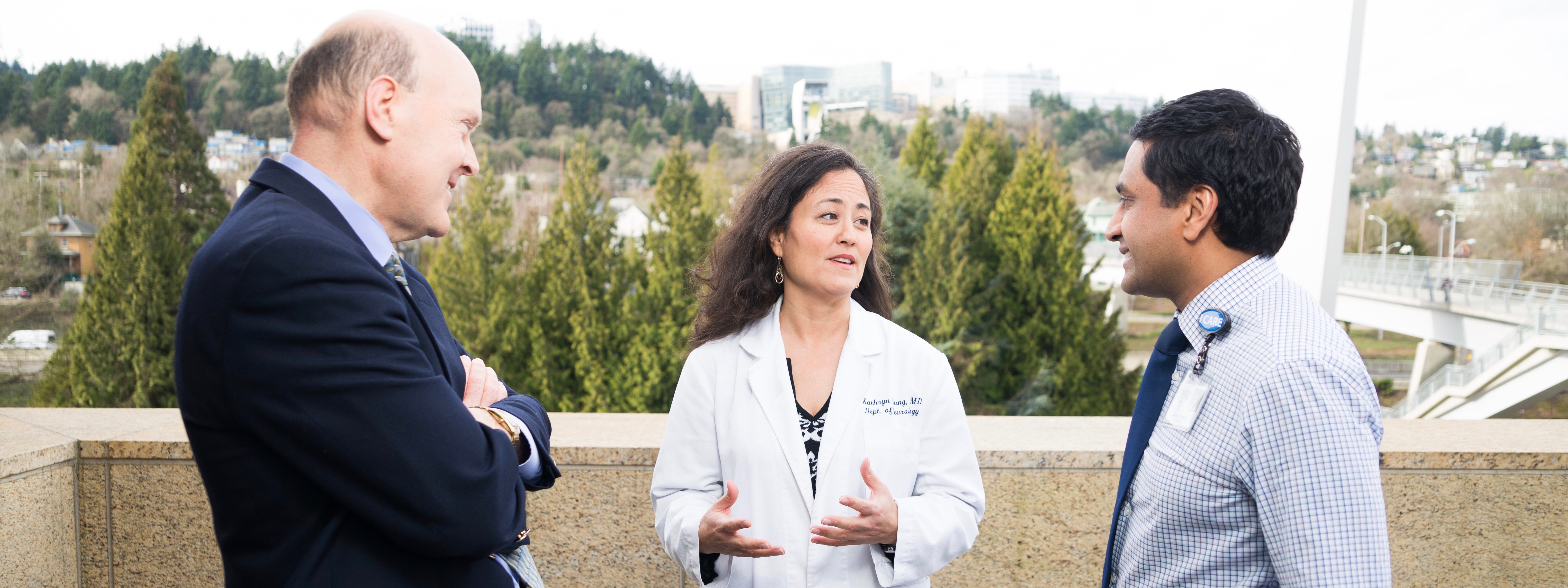 Dr. Joseph Quinn (from left), Dr. Kathryn Chung and Dr. Vivek Unni are among the highly skilled neurologists at the OHSU Parkinson Center.