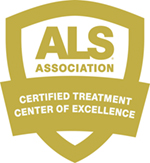 ALS Association Certified Treatment Center of Excellence Badge