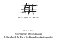 Front page of Sterilization of Individuals: A handbook for parents, guardians, and advocates