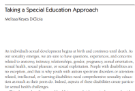 Cover page of taking a special education approach guide
