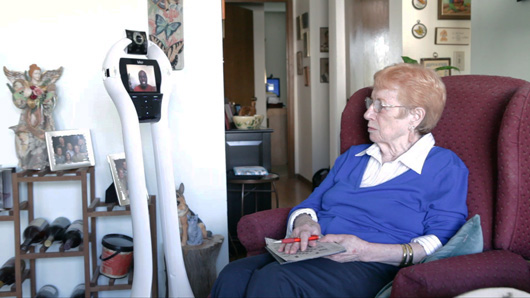 ORCATECH partnered with Intel to develop a stand-up robot that assists seniors in their homes