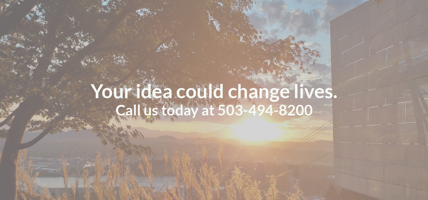 Your idea could change lives. Contact Technology Transfer today