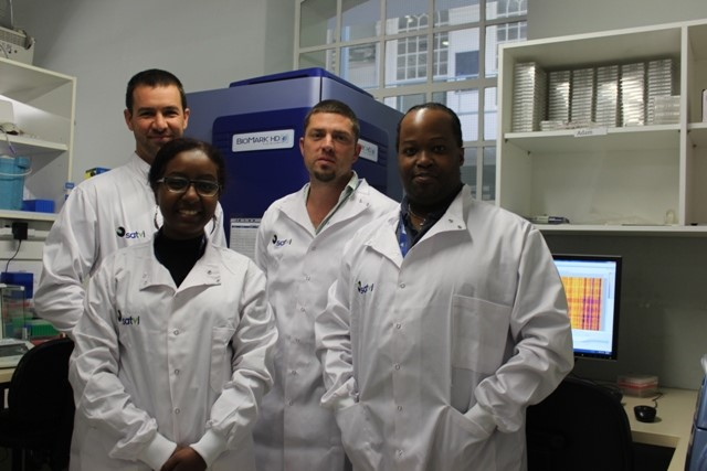 Dr. Lewinsohn's lab in South Africa