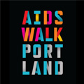 AIDS Walk Portland typographical logo