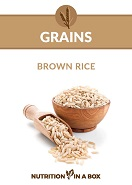 Brown rice food photo card for Nutrition in a Box curriculum