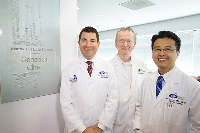 Dr. Pennesi, Dr. Weleber and Dr. Yang are the ophthalmic genetics doctors at Casey.