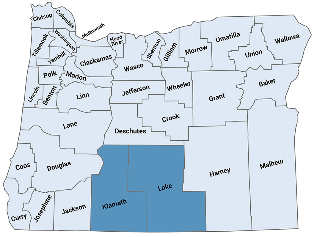 New S. Oregon liaison region map