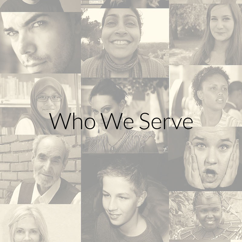 Collage of faces depicting who ORPRN serves