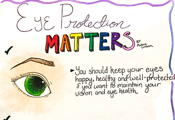 A winning picture from the Elks' annual poster contest about vision and eye health