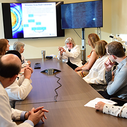 Providers meet and discuss melanoma-related cases