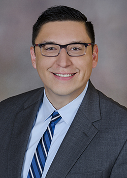 Headshot of provider relations manager, Gabriel Flores