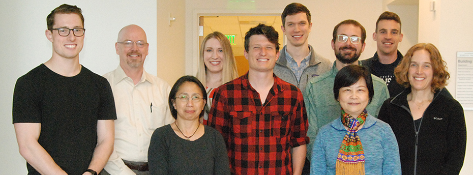A group photo of the current members of the Daniel Marks Pediatric Research Lab at OHSU.