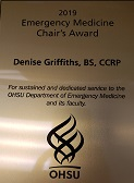 2019 Emergency Medicine Chair's Award - Denise Griffiths