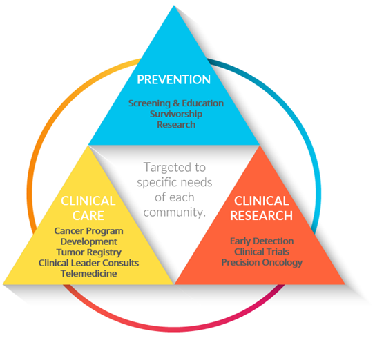 Our team is organized around three focus areas: Prevention, Clinical Care and Clinical Research.