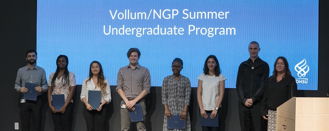 2019 summer undergraduates being honored at the symposium.