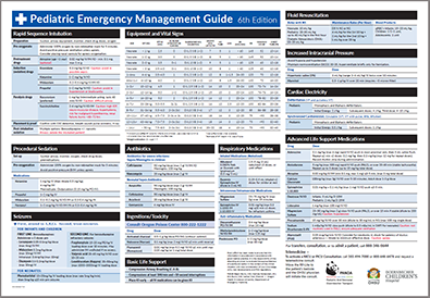A preview image of Doernbecher Children's Hospital's Pediatric Emergency Management Guide Poster