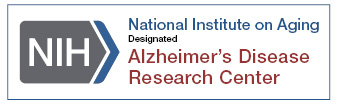 OBI NIH NIA badge Alzheimer's Disease Research Center logo