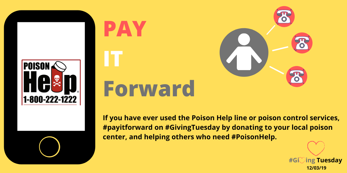 Pay it forward, donate to the poison center this #GivingTuesday