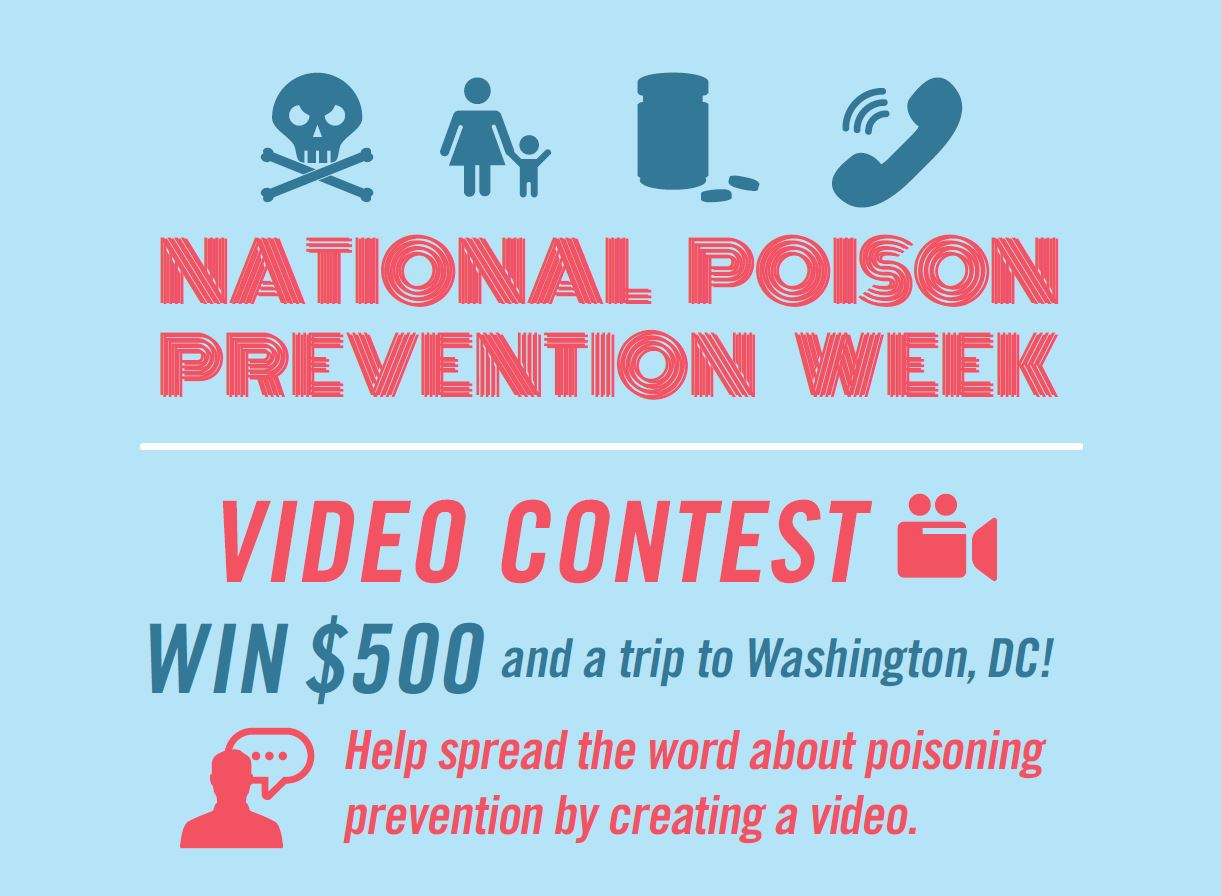 National Poison Prevention Week 2020 Student Video Contest Flyer