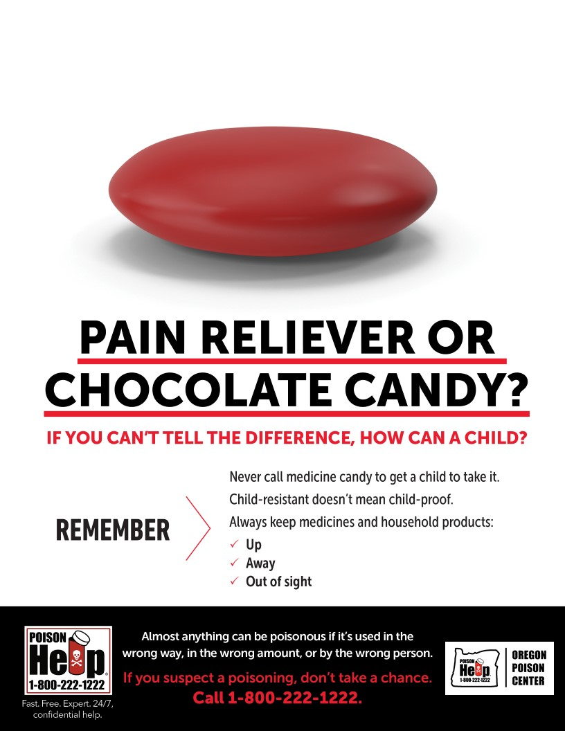Medicine and candy look alike. If you can't tell the difference, how can a child?