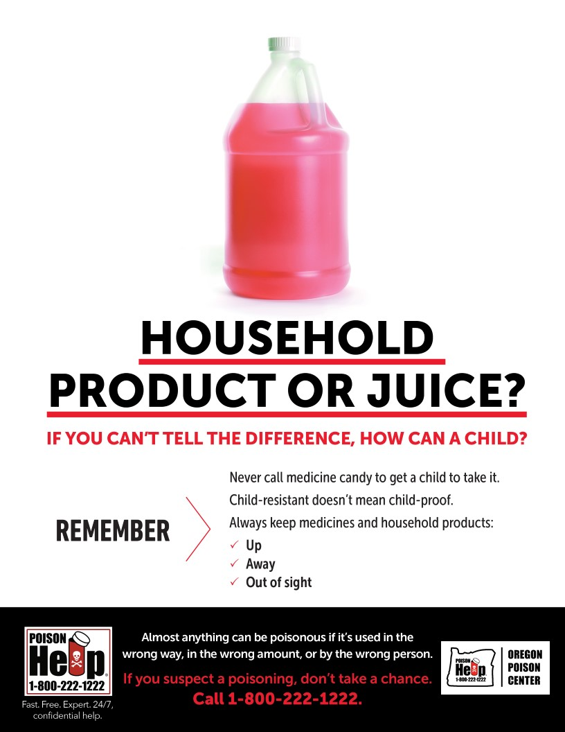 Common household products like food and drink. Safe storage is key to preventing accidental exposures