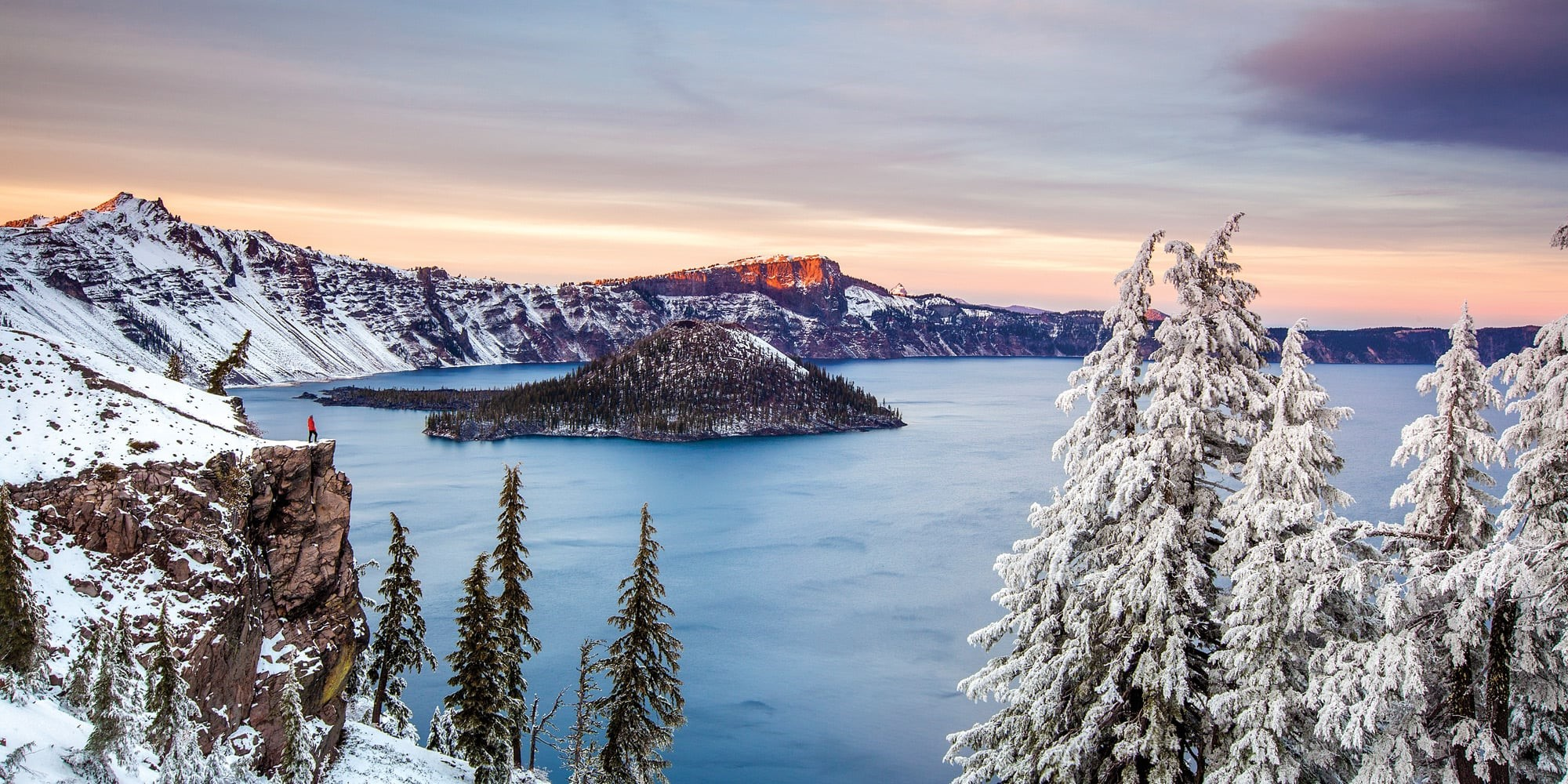 Crater Lake in Winter