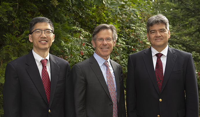 Drs. Chiang, Wilson and Lauer make up Casey's leadership team