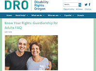 Screenshot of DRO Know Your Rights web page