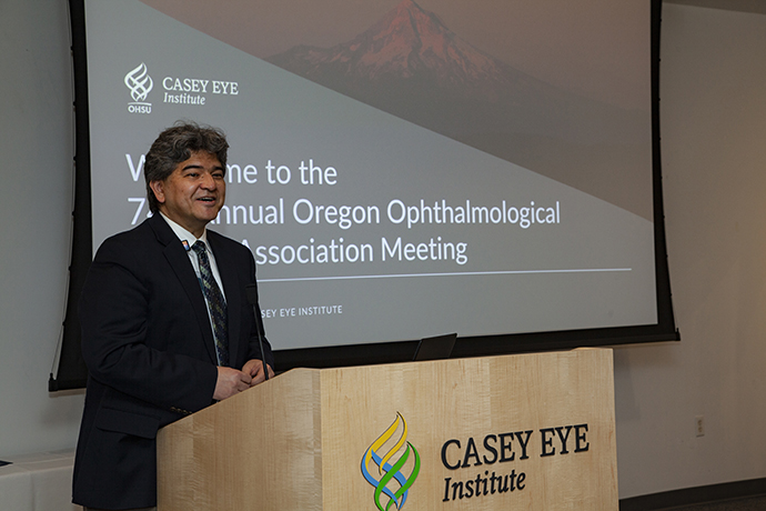 Dr. Andy Lauer leads the annual OOAA conference at OHSU