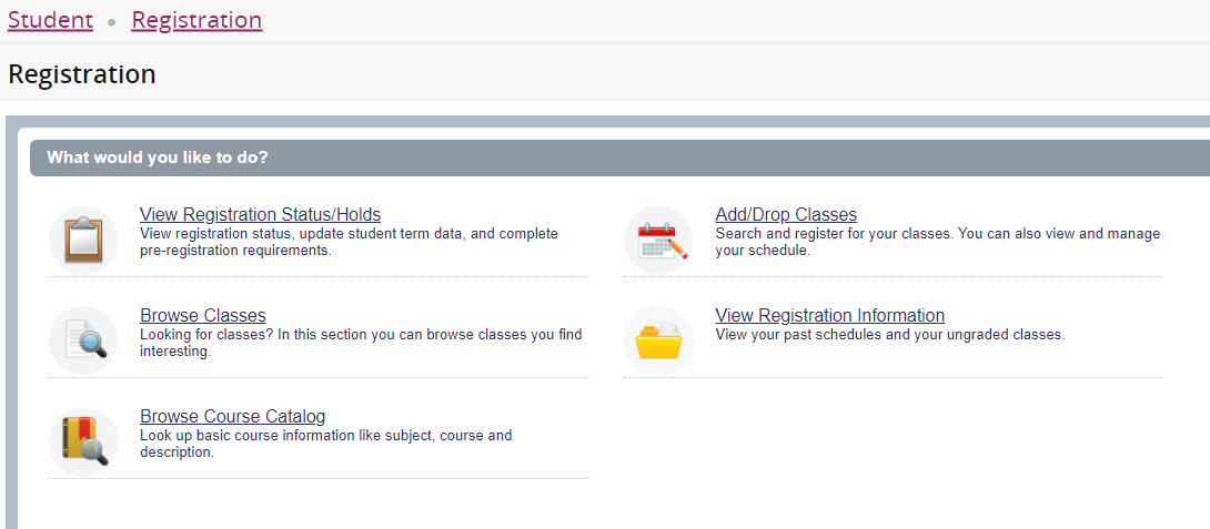 Registration home page 1
