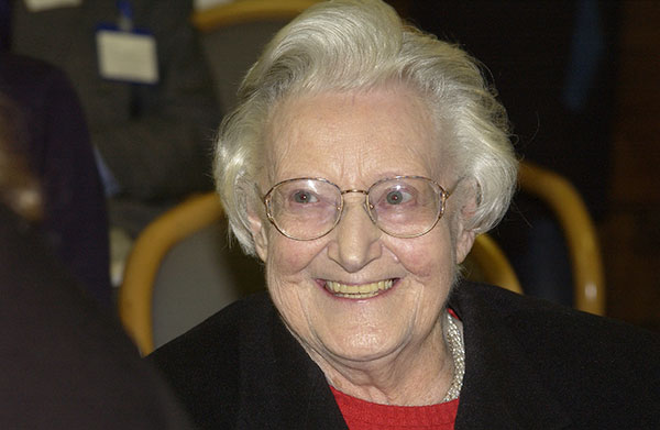 Up close portrait photo of Dr. Cicely Saunders