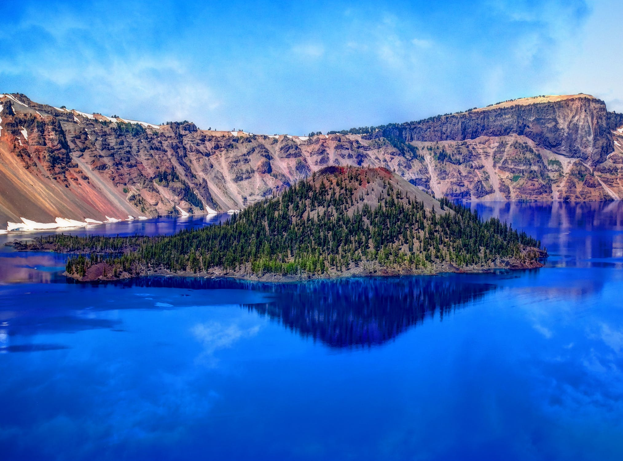 This is a picture of Crater Lake in Oregon