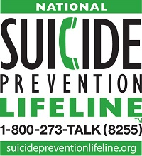 National Suicide Prevention Lifeline 1-800-273-8255