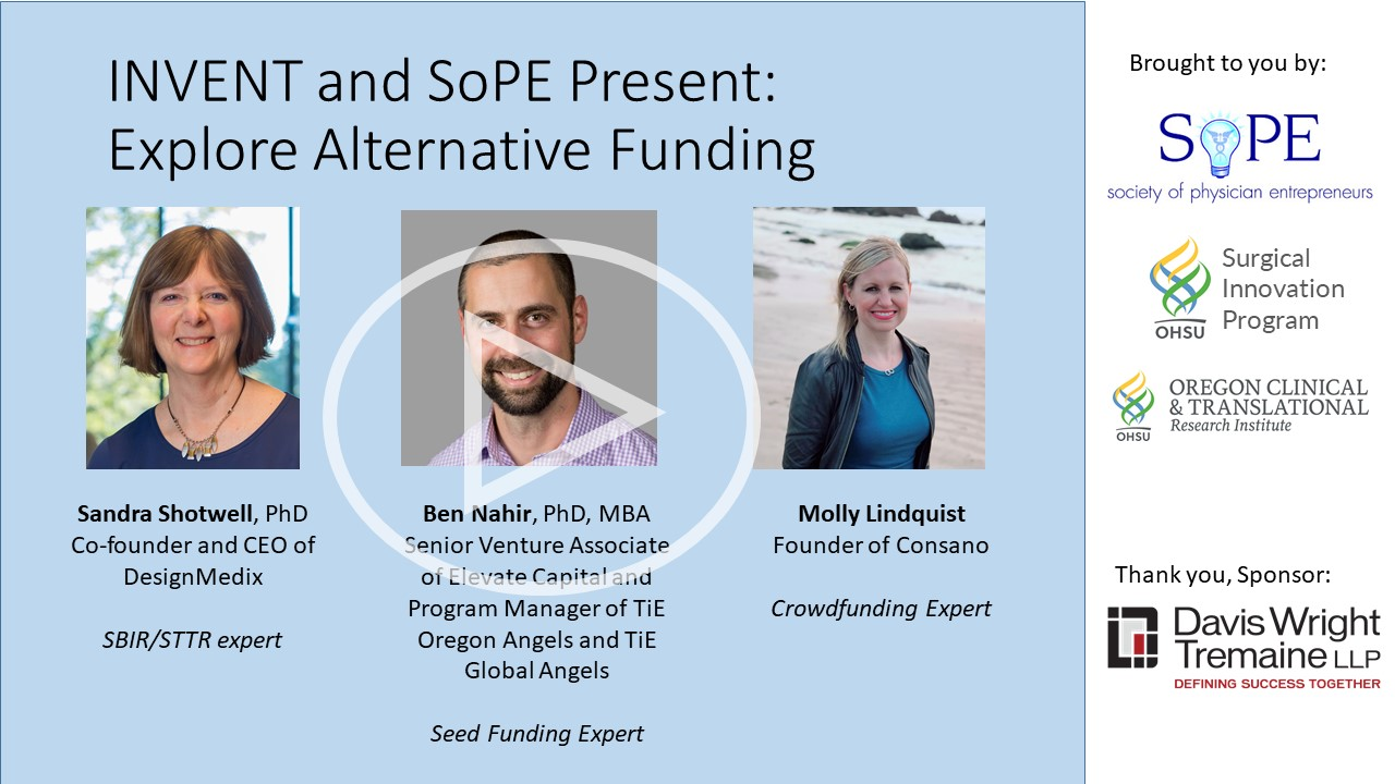 INVENT and SoPE: Alternative Funding Panel
