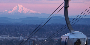 Picture of the Tram and Mount Hood