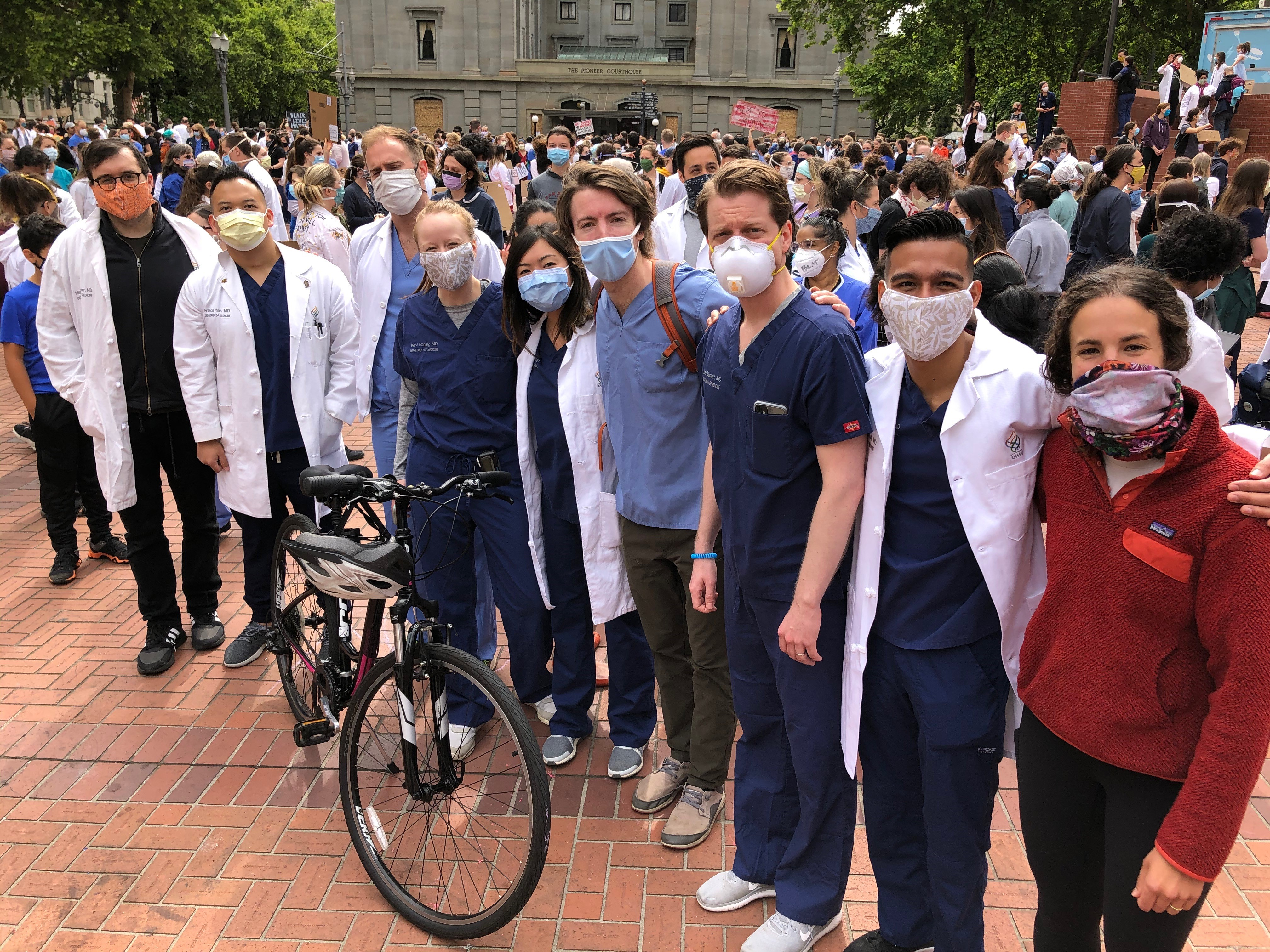 2020 IM White Coats for Black Lives Matter event