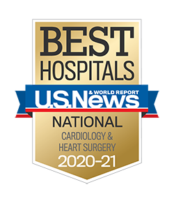 U.S. News & World Report (USNWR) Best Hospitals 2020-21 Badge Cardiology and Heart Surgery