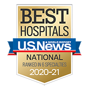 US News Best Hospitals badge 2020