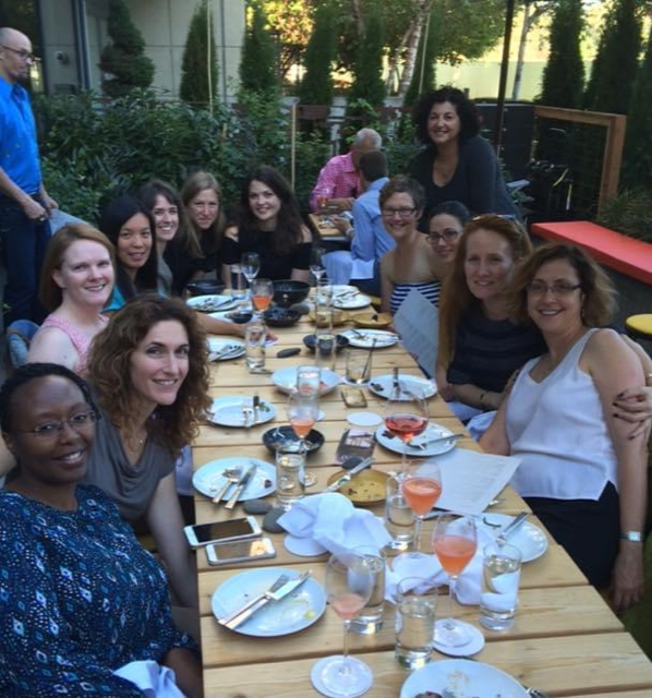 Diagnostic Radiology Women in Radiology Faculty Dinner 2016. Radiology female Faculty enjoying dinner together on an outside resturantpatio.
