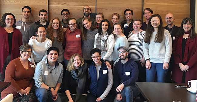 A group photo of the 2020 class of OHSU Pediatric Fellows at their annual retreat.