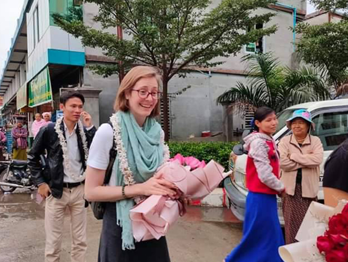 Residen Kellyn Bellsmith travels to Myanmar with the International Ophthalmology Program.