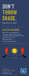 A preview image of an infographic that explains how to enjoy sunshine and the outdoors safely.