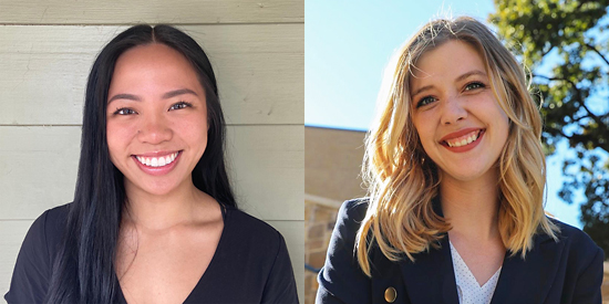 2020 Neuroscience postbaccalaureate scholars, Nina Luong and Allison Taylor