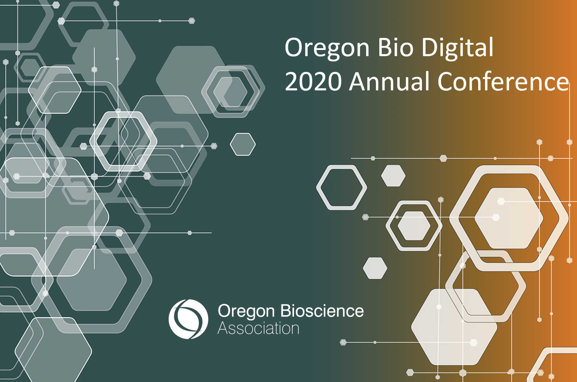 Graphic for Oregon Bioscience Association annual conference for 2020.