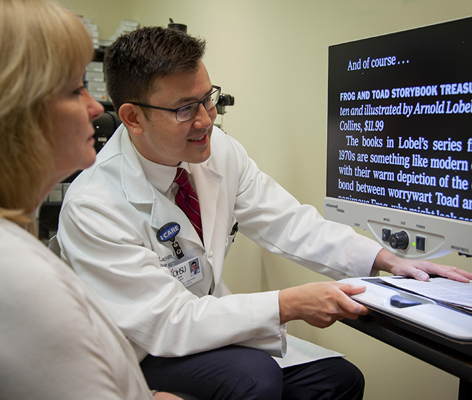 Dr. Alan Labrum is a vision rehabilitation specialist and helps patients improve vision