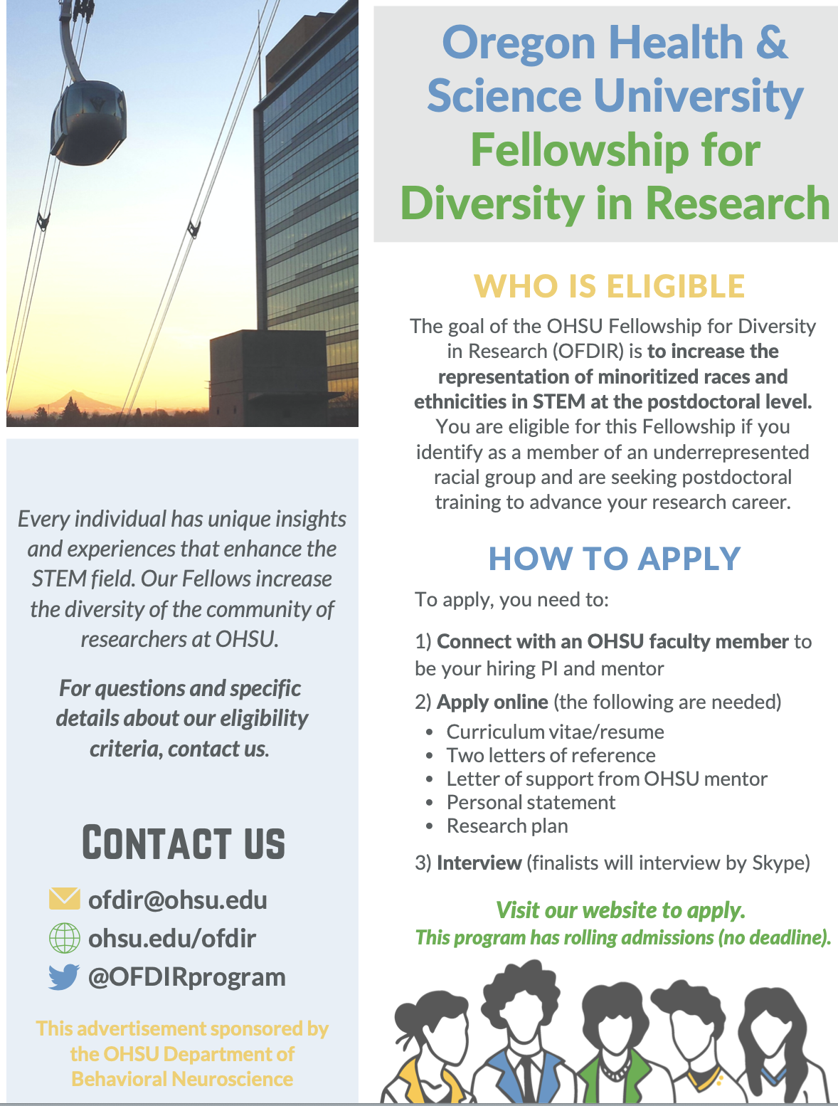 OHSU Fellowship for Diversity in Research Information