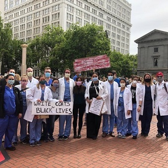 Otolaryngology Residents at a Black Lives Matter Protest